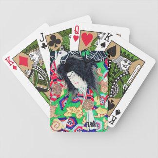 Cool oriental Yoshitoshi Kabuki Actor japan art Bicycle Poker Cards