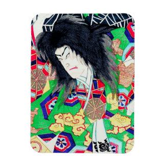 Cool oriental Yoshitoshi Kabuki Actor japan art Rectangular Photo Magnet