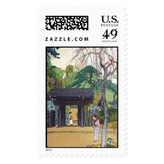 Cool orintal japanese Yoshida Temple Shrine Gate Postage