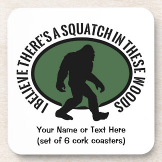 Cool Oval Squatch In These Woods Coaster