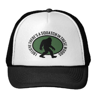 Cool Oval Squatch In These Woods Hats