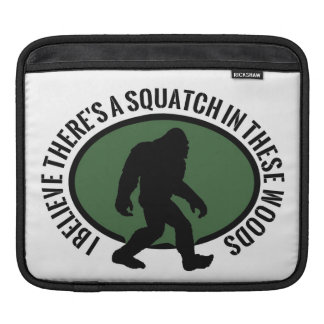 Cool Oval Squatch In These Woods iPad Sleeves