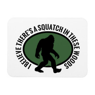 Cool Oval Squatch In These Woods Magnet