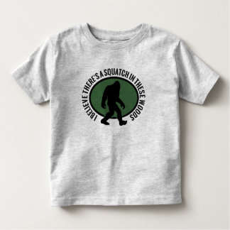 Cool Oval Squatch In These Woods Tee Shirts