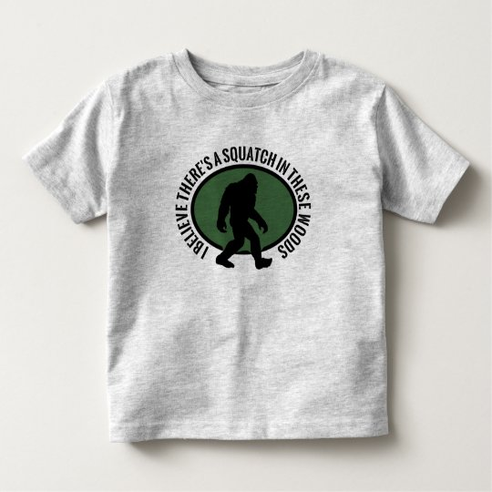 Cool Oval Squatch In These Woods Toddler T-shirt