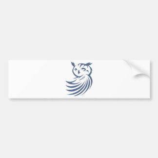 Cool Owl Bird Swish Icon Logo Shirt Bumper Sticker