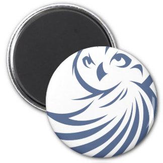 Cool Owl Bird Swish Icon Logo Shirt Magnet