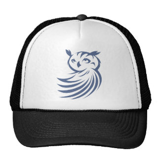 Cool Owl Bird Swish Icon Logo Shirt Trucker Hat