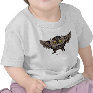 Cool owl graphic art baby t-shirt design