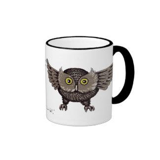 Cool owl graphic art mug design