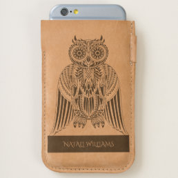 Cool Owl tribal style pattern illustration MOD iPhone 6/6S Case