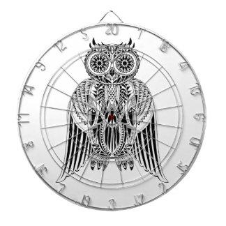 Cool Owl tribal style patterned illustration Dart Board