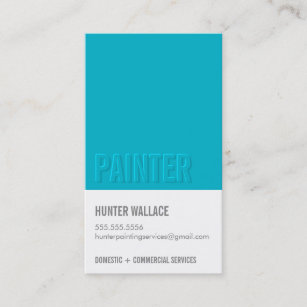 Embossed business cards zazzle cool paint chip swatch embossed look type blue business card colourmoves