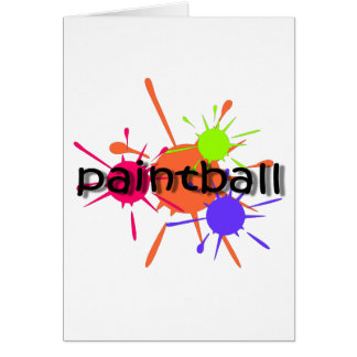 Cool paintball card