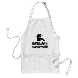 Cool Paintball designs Adult Apron