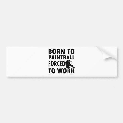 Cool Paintball Designs Bumper Sticker