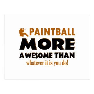 Cool Paintball designs Postcard