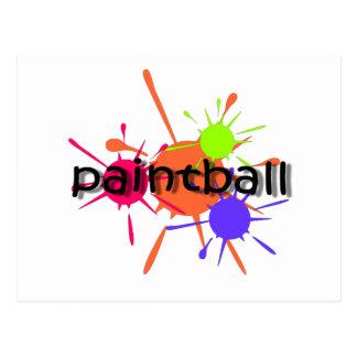 Cool paintball postcard