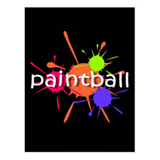 Cool paintball postcard