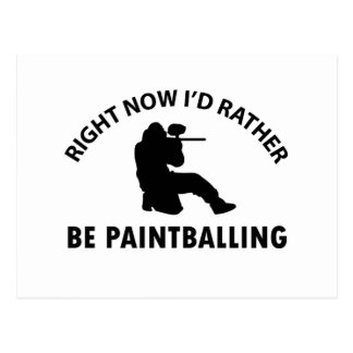 Cool paintballing designs postcard