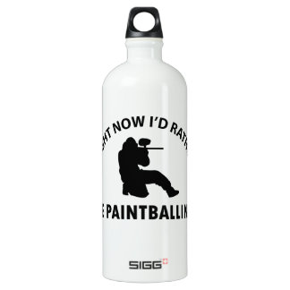 Cool paintballing designs water bottle