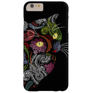 Cool Paisley Pattern Black Cat iPhone 6 Plus Case
