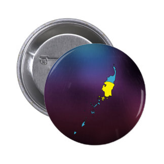 Cool palau Flag Map 2 Inch Round Button