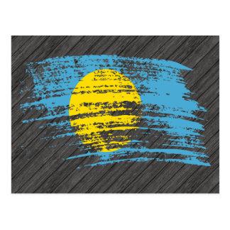 Cool Palauan flag design Postcard