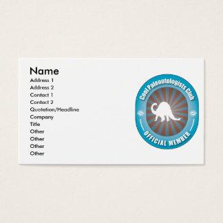 Cool Paleontologists Club Business Card