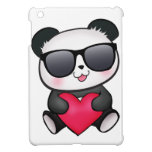 Cool Panda Bear Sunglasses Valentine's Day Heart iPad Mini Covers