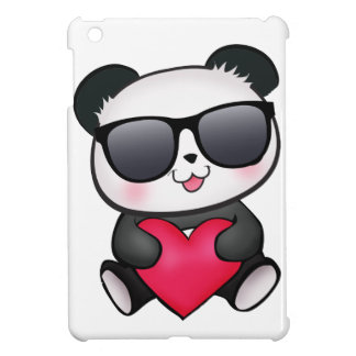 Cool Panda Bear Sunglasses Valentine's Day Heart iPad Mini Covers