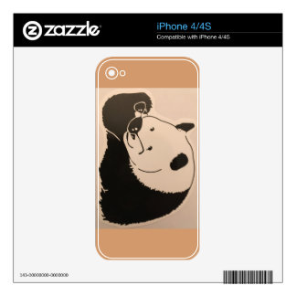 Cool Panda with Shades Decals For The iPhone 4