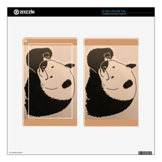 Cool Panda with Shades Kindle Fire Decal