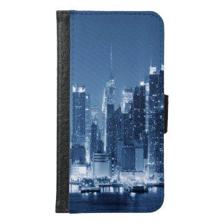 Cool Panoramic New-York City Night Skyline Samsung Galaxy S6 Wallet Case