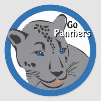 Cool Panther Round Sticker