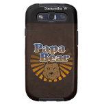 Cool Papa Bear, Brown/Blue/Gold Dad Gift Galaxy S3 Case
