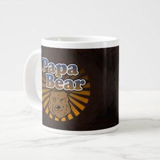 Cool Papa Bear, Brown/Blue/Gold Dad Gift Giant Coffee Mug