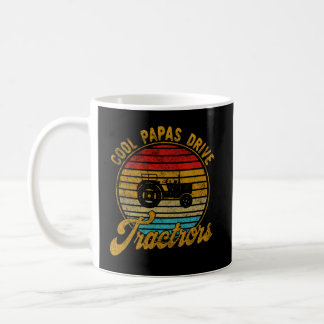 Cool Papas Drive Tractors Vintage Retro 1970s Coffee Mug