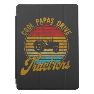 Cool Papas Drive Tractors Vintage Retro 1970s T-Sh iPad Pro Cover