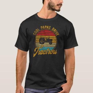 Cool Papas Drive Tractors Vintage Retro 1970s T-Shirt