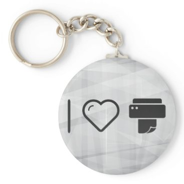 Professional Business Cool Paper Printer Keychain