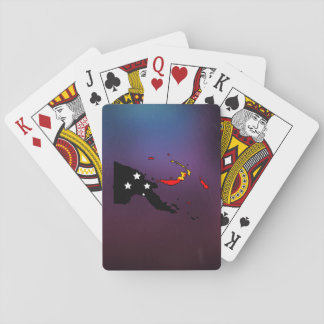 Cool papua new guinea Flag Map Playing Cards