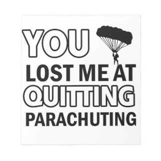 Cool parachute  designs memo notepads