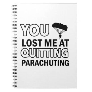 Cool parachute  designs notebook