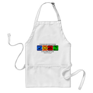 Cool Parachuting It Is A Way Of Life Adult Apron