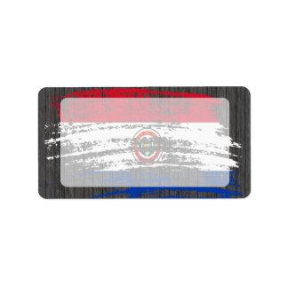 Cool Paraguayan flag design Label