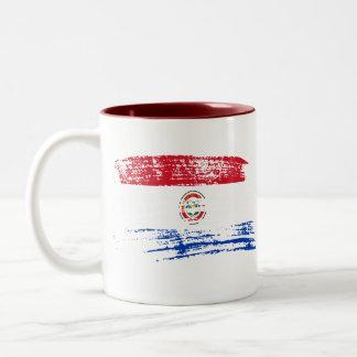 Cool Paraguayan flag design Two-Tone Coffee Mug