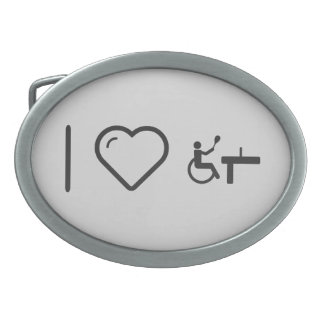 Cool Paralympic Tennis Matches Belt Buckles