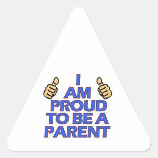 cool PARENTS designs Triangle Sticker