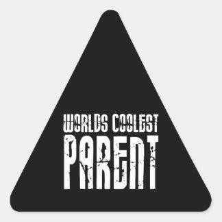 Cool Parents : Worlds Coolest Parent Triangle Sticker